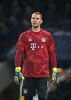 Goalkeeper Manuel Neuer of Bayern Munich pre match during the UEFA Champions League group match between Tottenham Hotspur and Bayern Munich at Wembley Stadium, London, England on 1 October 2019. Photo by Andy Rowland.
