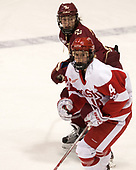 Serena Sommerfield (BC - 3), Maddie Elia (BU - 14) - The Boston College Eagles defeated the Boston University Terriers 3-2 in the first round of the Beanpot on Monday, January 31, 2017, at Matthews Arena in Boston, Massachusetts.