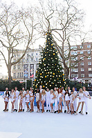 Contestants &amp; Professionals at the &quot;Dancing on Ice&quot; launch photocall at the Natural History Museum, London, UK. <br /> 19 December  2017<br /> Picture: Steve Vas/Featureflash/SilverHub 0208 004 5359 sales@silverhubmedia.com