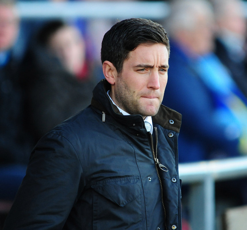 Oldham Athletic's Manager Lee Johnson <br /> <br /> Photo by Chris Vaughan/CameraSport<br /> <br /> Football - The Football League Sky Bet League One - Coventry City v Oldham Athletic - Sunday 29th December 2013 - Sixfields Stadium - Northampton<br /> <br /> &copy; CameraSport - 43 Linden Ave. Countesthorpe. Leicester. England. LE8 5PG - Tel: +44 (0) 116 277 4147 - admin@camerasport.com - www.camerasport.com