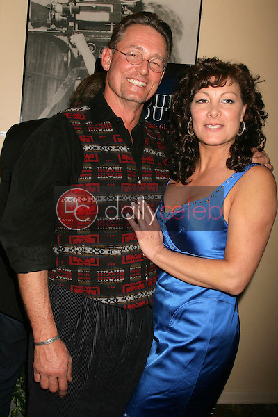 Anthony DeLongis and Mimi Lesseos <br /> at the Los Angeles Screening of 'Double Duty'. Raleigh Studios, Los Angeles, CA. 12-13-08<br /> Dave Edwards/DailyCeleb.com 818-249-4998