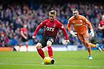 16.03.2019 Rangers v Kilmarnock: Conor McAleny rolls the ball into an empty net to score for Kilmarnock