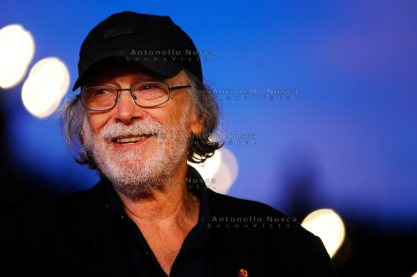 Rome, Italy, October 16, 2014. Tomas Milian posa durante la cerimonia di apertura al Film festival di Roma. Tomas Milian attends the Rome Film Festival Opening during the 9th Rome Film Festival at Auditorium Parco Della Musica.