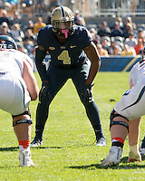Pitt linebacker Bam Bradley. The Pitt Panthers football team defeated the Virginia Cavaliers 26-19 on Saturday October 10, 2015 at Heinz Field, Pittsburgh, Pennsylvania.