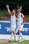 Craig Curran celebrates his goal with Raffaele da Vita