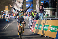 Lucinda Brand (NED/Telenet Baloise Lions) takes the victory in the Elite Womens Race <br /> UCI Cyclocross Worldcup – Hoogerheide (Netherlands)<br /> ©kramon