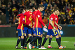 Spain's  Dani Carvajal Vitolo Machin Koke Resurreccion Thiago Alcantara Nacho Monreal Alvaro Morata during the match of European qualifying round between Spain and Macedonia at Nuevo Los Carmenes Stadium in Granada, Spain. November 12, 2016. (ALTERPHOTOS/Rodrigo Jimenez)