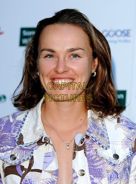 MARTINA HINGIS.Sony Ericsson WTA Tour Pre-Wimbledon Party, The Roof Gardens, Kensington, London, England..June 21st, 2007.headshot portrait necklace.CAP/FIN.©Steve Finn/Capital Pictures