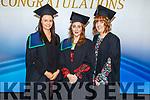 Nurses Sonia Sheehan (Listowel), Muireann Deane (Ballymac) and Niamh Sheehan (Kenmare) graduating in Emergency Care Nursing from the I T Tralee on Friday.