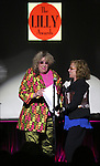 Allee Willis and Marsha Norman performing at The Lilly Awards Broadway Cabaret'   at The Cutting Room on November 9, 2015 in New York City.