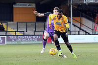 David Amoo of Cambridge United and Adam Crookes of Port Vale during Cambridge United vs Port Vale, Sky Bet EFL League 2 Football at the Cambs Glass Stadium on 9th February 2019