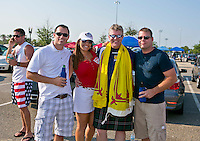 May 26, 2012:   USA and Scotland fans celebrate before the start of  action between the USA and Scotland Friendly at EverBank Field in Jacksonville, Florida.............