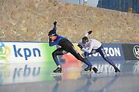 SPEED SKATING: COLLALBO: Arena Ritten, 10-01-2019, ISU European Speed Skating Championships, Jos de Vos (NED), Marcel Bosker (NED), ©photo Martin de Jong