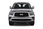 Car photography straight front view of a 2018 Infiniti QX80 Base 5 Door SUV