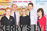 Pictured on Monday at the launch of the Bump, Baby and Toddler event which takes place at CH Chemist on Tuesday, May 1st, from left: Helena Sankar, Kevin Riordan (manager), Breda Furlong, Peter Harty (managing director) and Mary Sugrue..