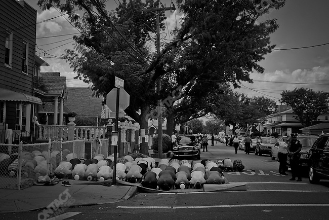 OZONE PARK, Queens NY 8/ 15/16  Shooting death of Imam Maulama Akonjee 55 years old and assistant Thara Uddin 64 years old  were shot dead in broad daylight August 13, 2016 in the Ozone Park neighborhood. Ozone Park with a large Bangladeshi community, was in shock. Prayer at the Al-Furqan Jame Masjid mosque before the funeral. Photo by Yunghi Kim /Contact Press Images.
