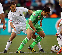 Steve Cherundolo of USA. USA defeated Algeria 1-0 in stoppage time in the 2010 FIFA World Cup at Loftus Versfeld Stadium in Pretoria, Sourth Africa, on June 23th, 2010.