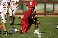 9 April 2007: Clayton White during spring practice in Stanford, CA.