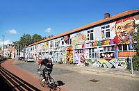 Vrolijke graffiti in Den Bosch