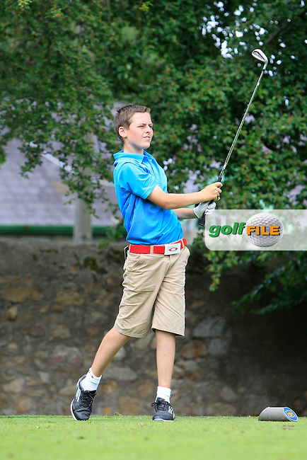 Jack Small (Elm Park) on the 2nd tee during Round 1 of the Grange Dublin Boys on Monday 21th July 2014.<br /> Picture:  Thos Caffrey / www.golffile.ie
