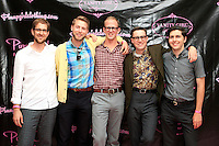 LOS ANGELES - AUG 3: Nick Waterhouse, band  at the opening of the 'Pinup Girl Boutique' on August 3, 2012 in Burbank, California