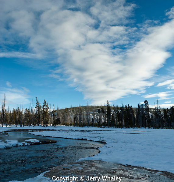 Iron Spring Creek, Black Sand Basin, Winter, Yellowstone NP, WY