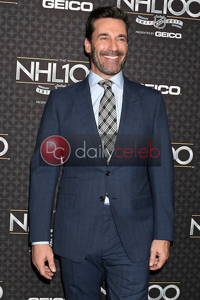 Jon Hamm<br /> at the The NHL100 Gala, Microsoft Theater, Los Angeles, CA 01-27-17<br /> David Edwards/DailyCeleb.com 818-249-4998