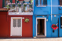 Colorful houses on Burano Island, Italy