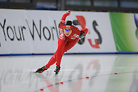 SCHAATSEN: BERLIJN: Sportforum, Essent ISU World Cup Speed Skating | The Final, 11-03-2012, 1000m Ladies, Jing Yu (CHN), ©foto Martin de Jong
