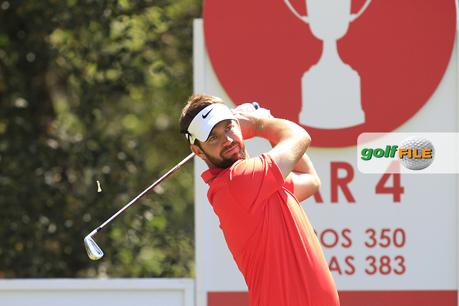 Scott Jamieson (SCO) on the 2nd tee during Thursday's Round 1 of The Open De Espana at The PGA Catalunya Resort. 15th May 2014.<br /> Picture:  Thos Caffrey / www.golffile.ie