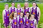 Scartaglen NS team that played Gneeveguilla in the Kerry Primary schools basketball final in Killarney on Wednesday front row l-r:Muireann Walsh, Emma Kerin, Muireann Rahilly, Tara Kerin, Back row Molly Mahony, Shauna Tangney, Maura Collins, Annie Mahony, Ciara Casey
