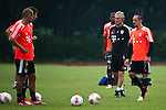 GUANGZHOU, GUANGDONG - JULY 26:  Franck Ribery and head coach Jupp Heynckes of Bayern Munich during a training session ahead the friendly match against VfL Wolfsburg as part of the Audi Football Summit 2012 on July 26, 2012 at the Tianhe Sports Stadium in Guangzhou, China. Photo by Victor Fraile / The Power of Sport Images
