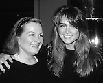 Brooke Shields with mom Teri Shields in New York City. 1984