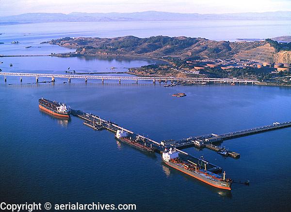 aerial photograph Chevron Richmond Long Wharf, Richmond, California