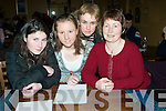 COMMUNITY: Playing in the Community Games Adult Table Quiz at The Tankard, Kilfenora, Fenit, on Friday night, l-r: Meadhbh Healy, Jennifer and Jean Courtney and Ellen Healy from Spa/Muckross, Killarney..