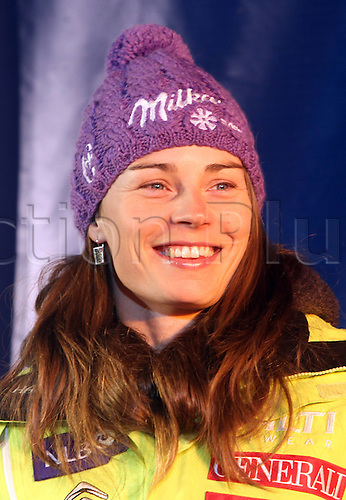 27 01 2012  Ski Alpine FIS WC St Moritz Super Combination women St Moritz Switzerland  Award Ceremony Picture shows Tina Maze SLO on the winners podium