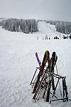 Ski's and ski slope at Mt Spokane, WA