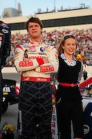 May 2, 2008; Richmond, VA, USA; NASCAR Nationwide Series driver Landon Cassill during the Lipton Tea 250 at the Richmond International Raceway. Mandatory Credit: Mark J. Rebilas-