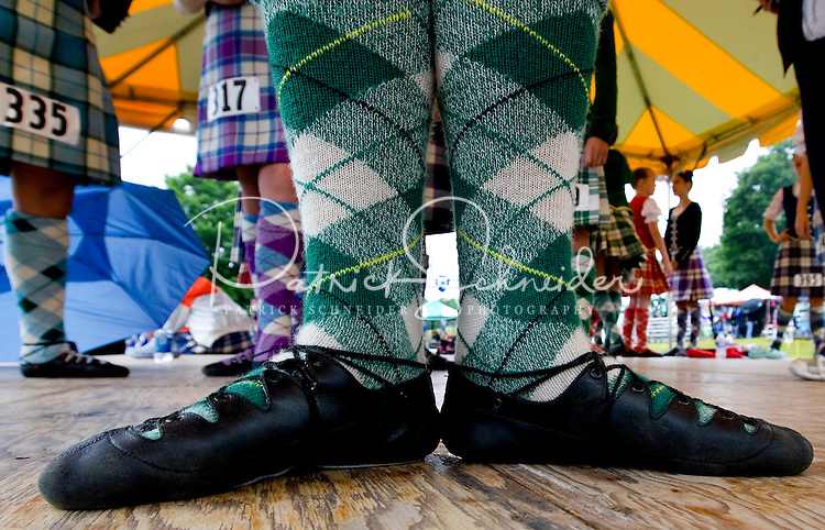 Dancers wait to perform during the 52nd Annual Grandfather Mountain Highland Games in Linville, NC.