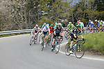 The peloton including Mikel Nieve (ESP) and Chris Froome (GBR) Team Sky climbing during Stage 4 of the 2016 Tour de Romandie, running 173.2km from Conthey to Villars, Switzerland. 30th April 2016.<br /> Picture: Heinz Zwicky | Newsfile<br /> <br /> <br /> All photos usage must carry mandatory copyright credit (© Newsfile | Heinz Zwicky)