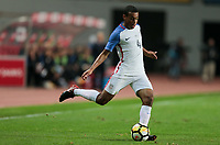 Leiria, Portugal - Tuesday November 14, 2017: Tyler Adams during an International friendly match between the United States (USA) and Portugal (POR) at Estádio Dr. Magalhães Pessoa.