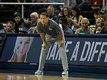 Nevada head coach Eric Musselman works the sidelines against South Dakota State in the second half of an NCAA college basketball game in Reno, Nev., Saturday, Dec. 15, 2018. (AP Photo/Tom R. Smedes)