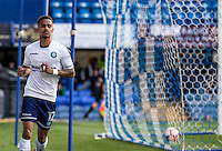 Paris Cowan-Hall of Wycombe Wanderers celebrates scoring the 1st goal during the FA Cup 1st round match between Portsmouth and Wycombe Wanderers at Fratton Park, Portsmouth, England on the 5th November 2016. Photo by Liam McAvoy.