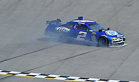 Apr 26, 2009; Talladega, AL, USA; NASCAR Sprint Cup Series driver Kurt Busch spins during the Aarons 499 at Talladega Superspeedway. Mandatory Credit: Mark J. Rebilas-
