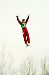 14 January 2005 - Lake Placid, New York, USA - Warren Shouldice from Canada competes in the FIS World Cup Aerial acrobatic competition at the MacKenzie-Intervale Ski Jumping Complex, in Lake Placid, NY. Shouldice took the Silver after a weather induced one-jump competition...Mandatory Credit: Ed Wolfstein Photo.
