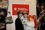 """Lauri Landry """"Nicole Love"""" - Another World and Broadway poses with designer Jane Elissa who is holding her new book """"Diary of a Lollipop in a Peanut Factory"""" as they join together to raise money for Leukemia and Cancer Research. (Photo by Sue Coflin/Max Photos)"""