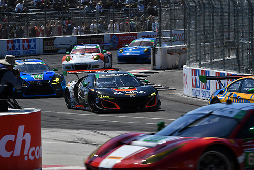 2017 IMSA WeatherTech SportsCar Championship<br /> BUBBA burger Sports Car Grand Prix at Long Beach<br /> Streets of Long Beach, CA USA<br /> Saturday 8 April 2017<br /> 86, Acura, Acura NSX, GTD, Oswaldo Negri Jr., Jeff Segal<br /> World Copyright: Richard Dole/LAT Images<br /> ref: Digital Image RD_LB17_373