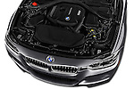 Car Stock 2017 BMW 3-Series 330i-Sports-Wagon 5 Door Wagon Engine  high angle detail view