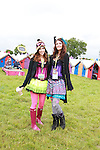 Jenna Gibson and Michelle Meck on Day 1 of the Oxegen Festival, Punchestown, Co.Kildare...(Photo credit should read Jenny Matthews www.newsfile.ie)....This Picture has been sent you under the conditions enclosed by:.Newsfile Ltd..The Studio,.Millmount Abbey,.Drogheda,.Co Meath..Ireland..Tel: +353(0)41-9871240.Fax: +353(0)41-9871260.GSM: +353(0)86-2500958.email: pictures@newsfile.ie.www.newsfile.ie.