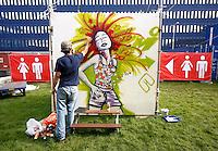 Graffiti bij een evenement in Amsterdam